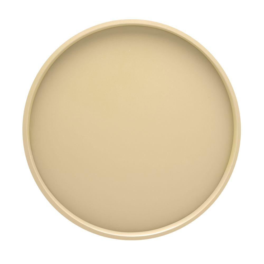 Kraftware 14 in. Round Serving Tray in Ivory