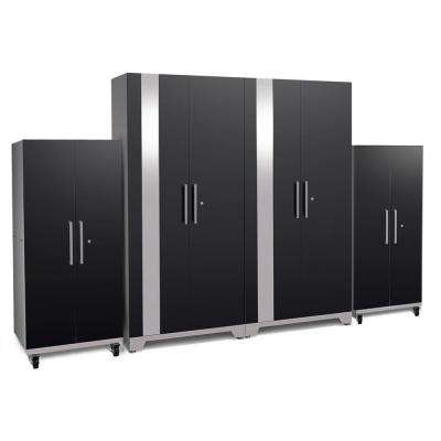 Performance Plus 2.0 80 in. x 128 in. x 24 in. Steel Garage Cabinet Set in Black
