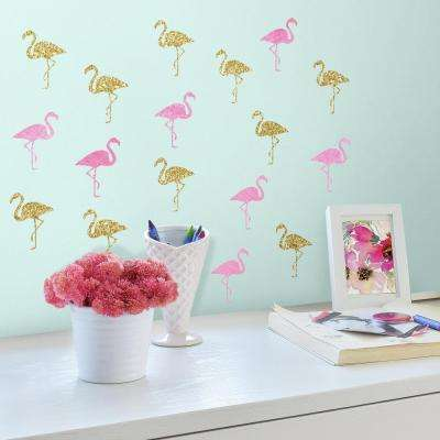 Flamingo 40 Piece Peel And Stick Wall Decals