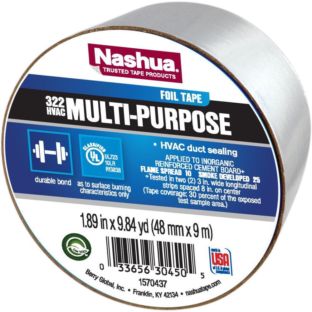 1 89 in x 9 8 yds 322 multi purpose hvac foil tape 1198777 the