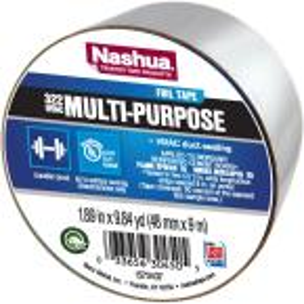 1.89 in. x 9.8 yds. 322 Multi-Purpose HVAC Foil Tape