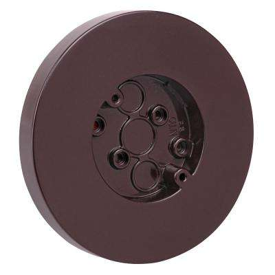 3.8 cu. in. Round Surface Outlet Box Brown (Case of 50)