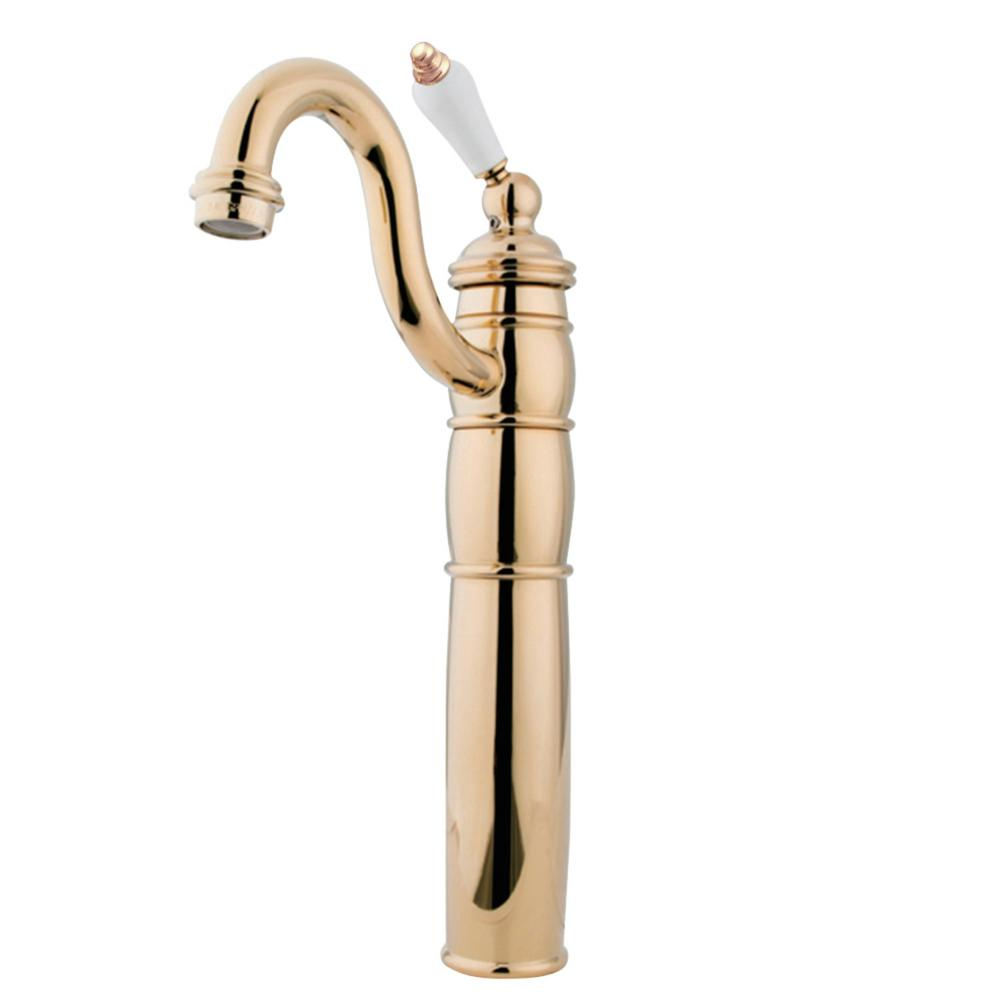 Kingston Brass Heritage Single Hole Single-Handle Bathroom Faucet in Polished Brass