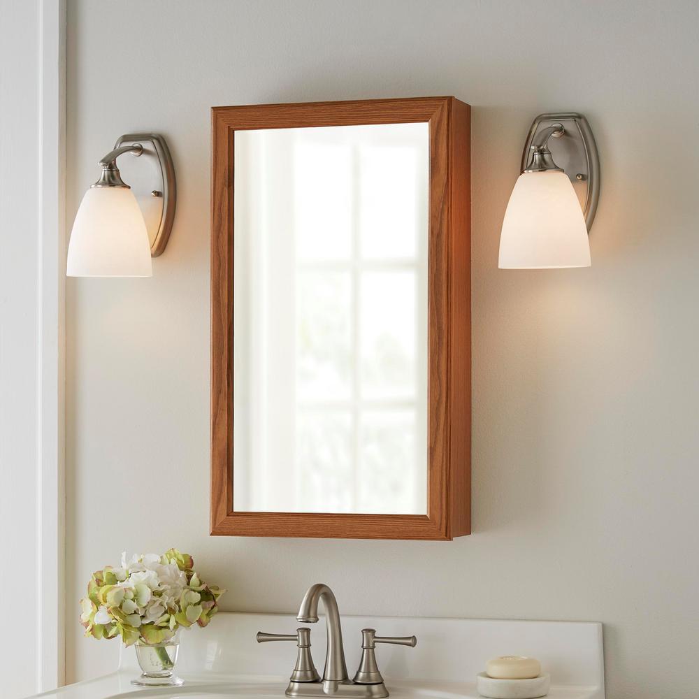 Hampton 30 in. W x 21 in. D x 33.5 in. H Bathroom Vanity Cabinet Only in Oak