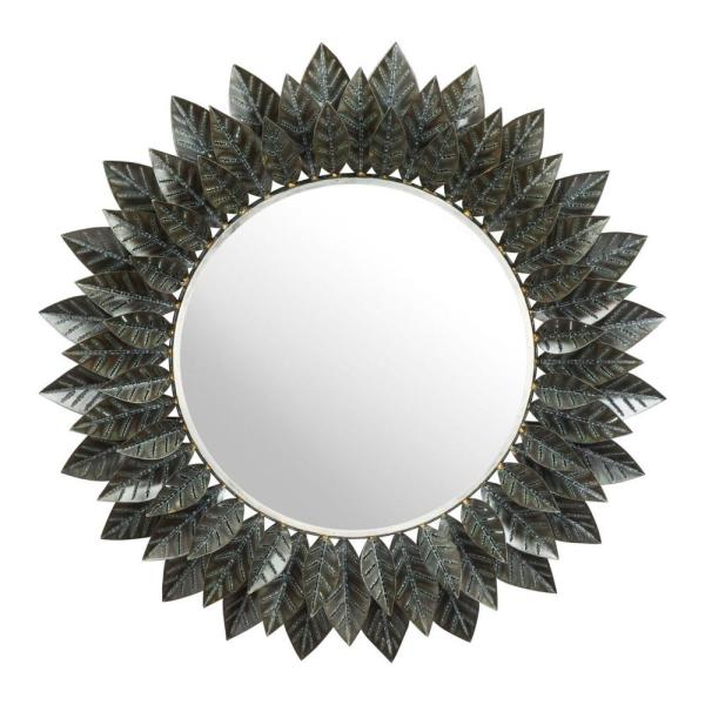 Julia 39 in. x 39 in. Classic Round Framed Black Vanity Mirror