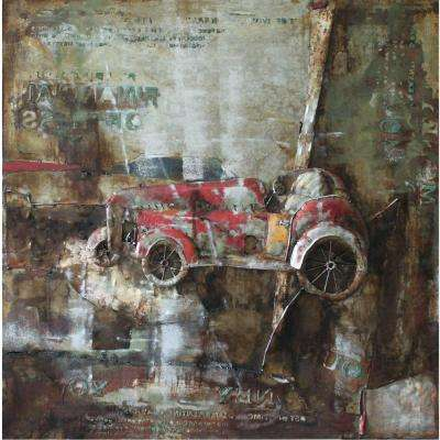 "32 in. x 32 in. ""Classic II"" Hand Painted Contemporary Artwork"