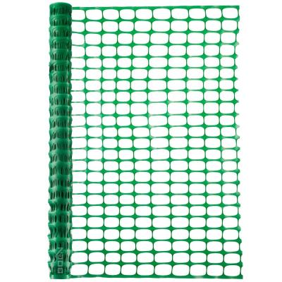 4 ft. x 100 ft. Green Plastic Temporary Fencing, Mesh Snow Fence, Safety Garden Netting (4-Pack)