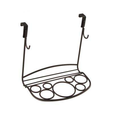 MyBella 9.625 in. W Over the Cabinet Shapes Styling Rack in Bronze
