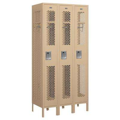 71000 Series 36 in. W x 78 in. H x 18 in. D Single Tier Vented Metal Locker Assembled in Tan