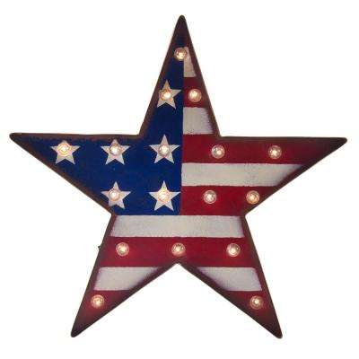 16.73 in. H Marquee Patriotic LED Star