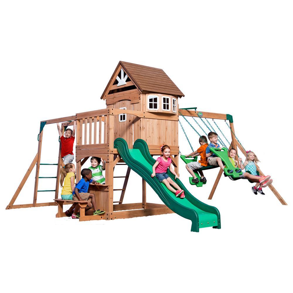 Backyard Discovery Montpelier All Cedar Swing Set 30211com The