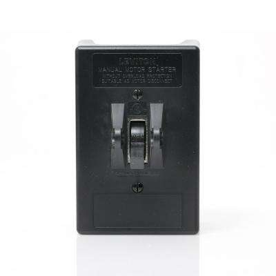 30 Amp 600 Volt Industrial Grade 3-Pole Toggle In Type 1 Enclosure w/ Metal Back Plate AC Manual Motor Controller - Gray