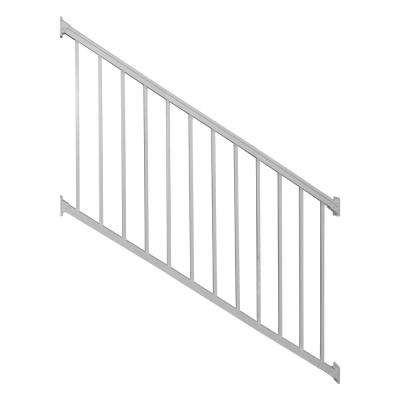 Stanford 36 in. H x 96 in. W Textured White Aluminum Stair Railing Kit