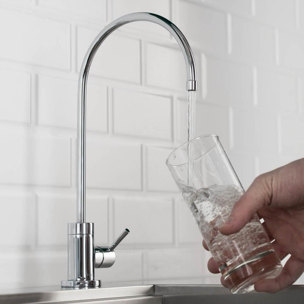 Purita Single Handle Cold Water Dispenser Faucet in Chrome, Grey was $49.95 now $39.95 (20.0% off)