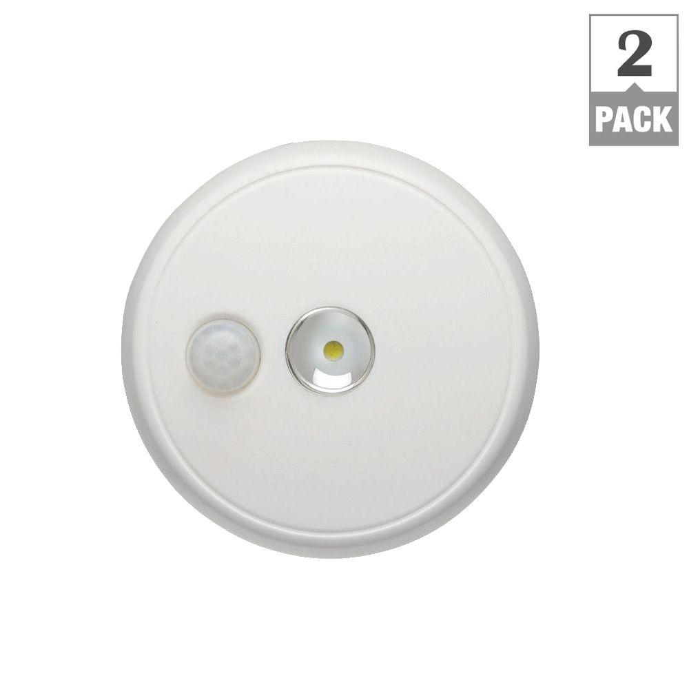 Wireless Motion Sensing LED Ceiling Light (2-Pack)
