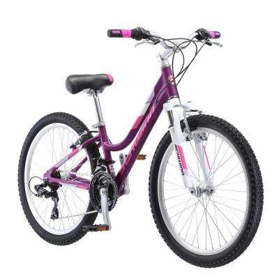 24 in. Girl's Bike for Ages 8-Years to 12-Years in Purple