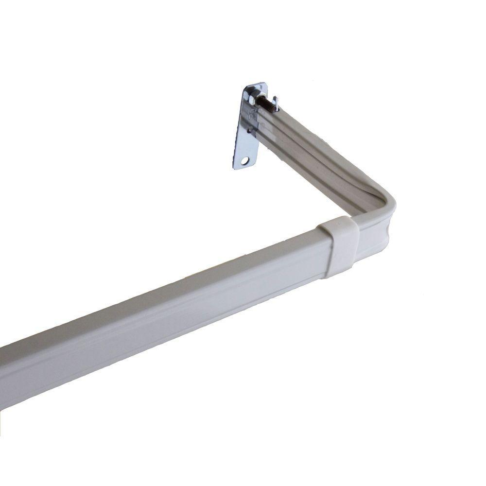 18 in. - 28 in. Lockseam 3 in. Clearance Single Curtain Rod