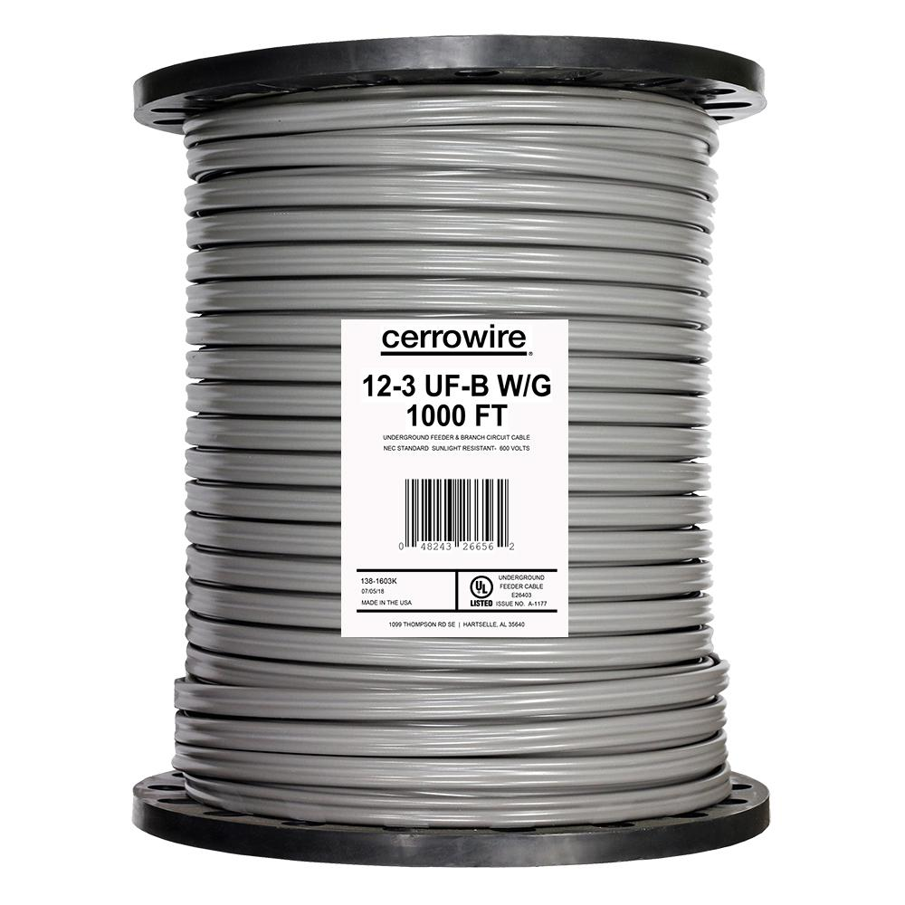 Cerrowire 1,000 ft. 12/3 UF-B Wire-138-1603K - The Home Depot