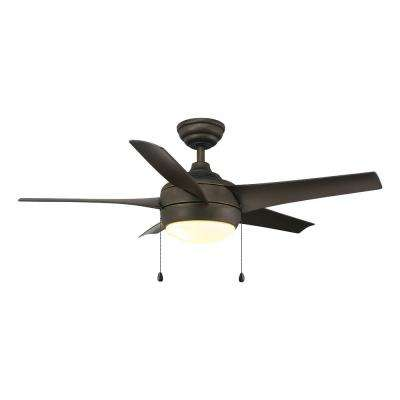 Windward 44 in. LED Oil Rubbed Bronze Ceiling Fan with Light Kit