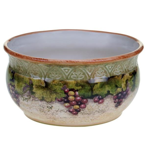 Certified International Sanctuary Wine Deep Serving Bowl 25388