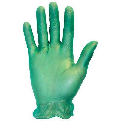 X-Large Green Heavy-Duty 6.5 Mil Disposable Vinyl Gloves (4-Pack of 100-Count)