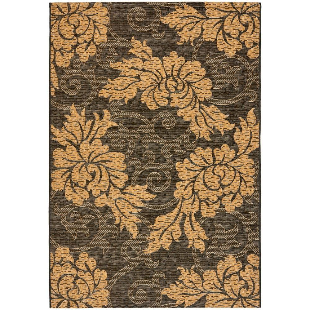 Courtyard Black/Natural 5 ft. 3 in. x 7 ft. 7 in.