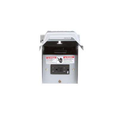 60 Amp Outdoor Non-Fusible Pullout AC Disconnect with 15 Amp GFCI Receptacle