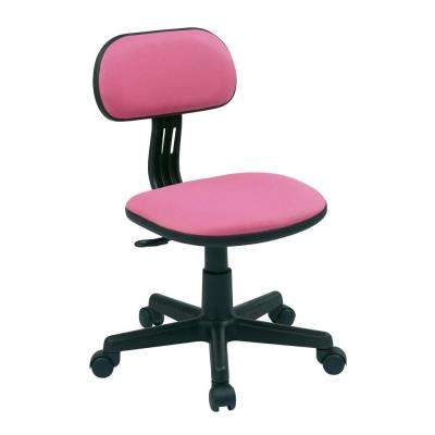 Pink Fabric Office Chair