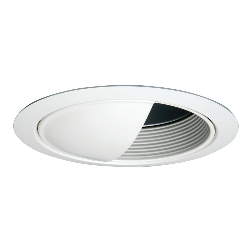 6 in. White Recessed Ceiling Light Baffle Wall Wash and Reflector