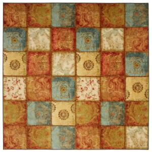 Artifact Panel Multi 8 ft. x 8 ft. Patchwork Area Rug