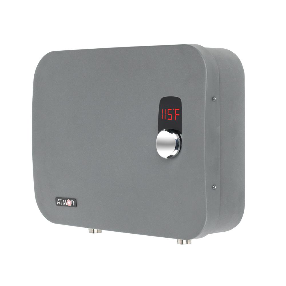 ATMOR PRO 24,000-Watt 4.65 GPM Electric Tankless Water Heater Ideal For 2 Bedroom Home Up To 5 Simultaneous Applications