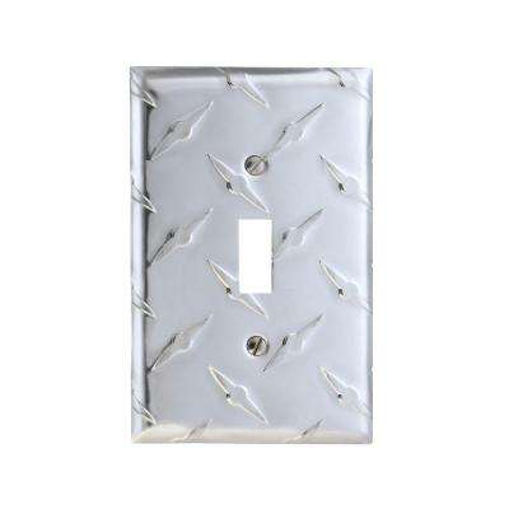 Diamond Cut 1 Toggle Wall Plate - Aluminum