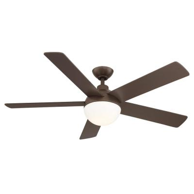 Tulum 52 in. LED Integrated Light 5 Blade Bronze Ceiling Fan with Remote Control