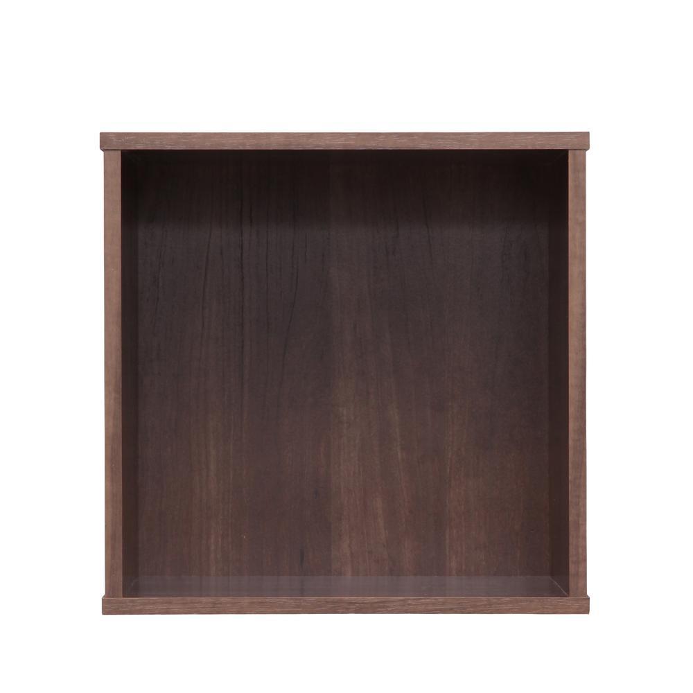 BAKU Brown Modular Wood Cube Box