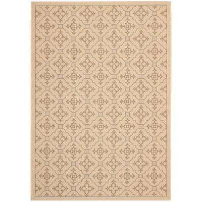 Courtyard Cream/Brown 5 ft. x 8 ft. Indoor/Outdoor Area Rug