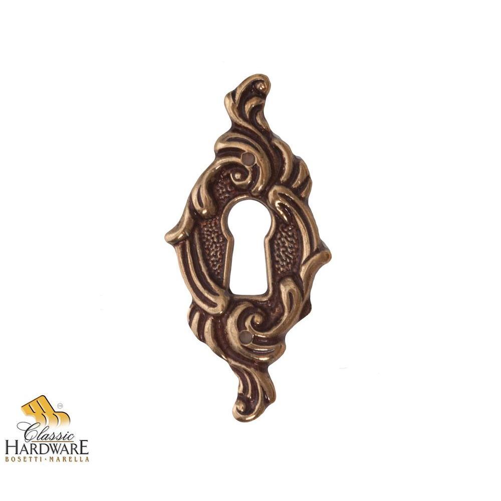 Antique Brass Distressed Vertical Escutcheon