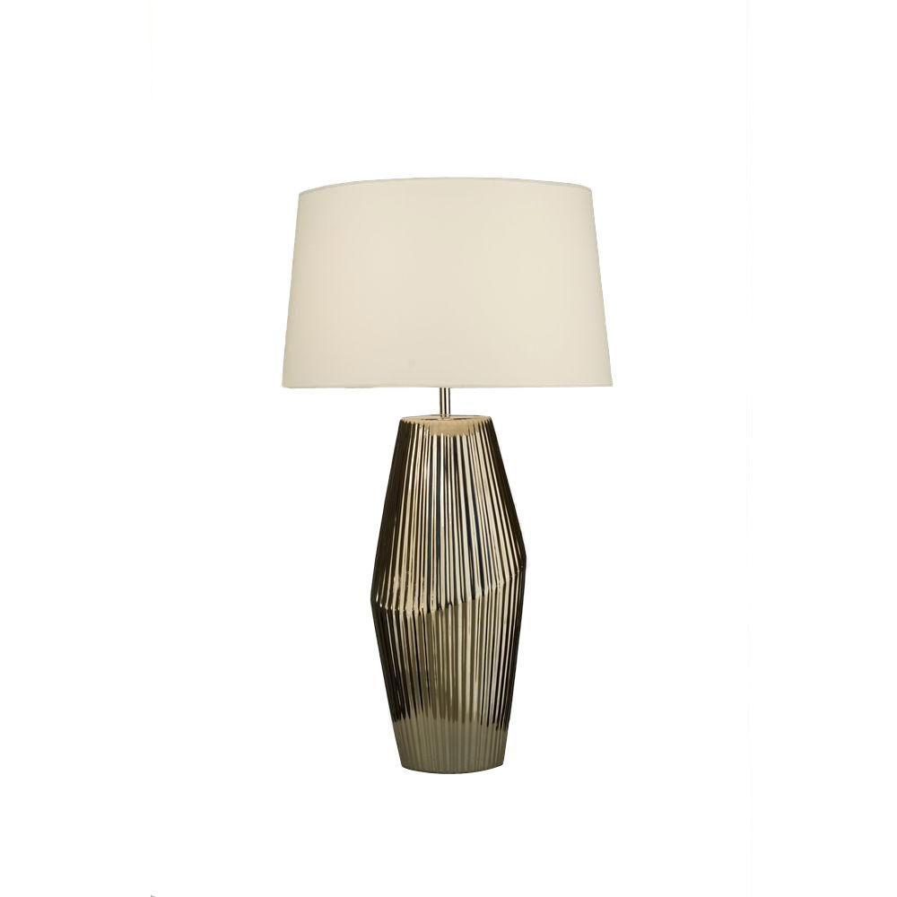 NOVA Astrulux 28 in. Black Nickel Incandescent Table Lamp