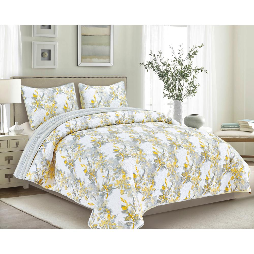 Rosseti 3-Piece Yellow Full/Queen Quilt Set