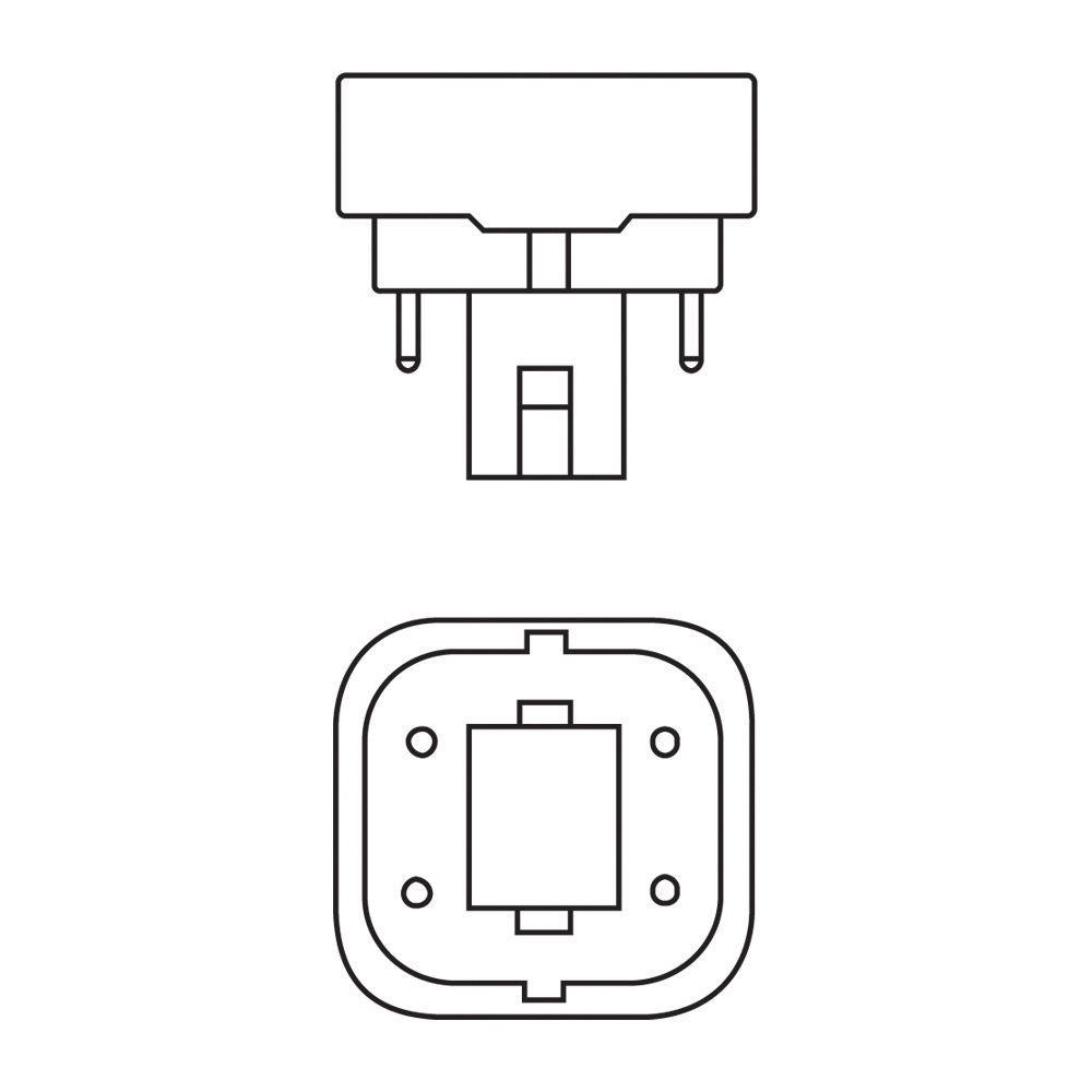 10 St/ück Philips Kompaktlampe PL-C 13 Watt 840 neutralwei/ß 4P G24q-1 13W