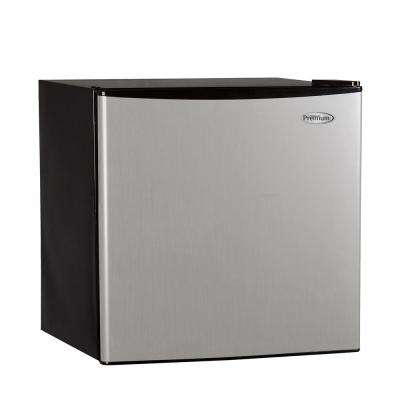 1.6 cu. ft. Mini Refrigerator in Black with Stainless Steel Door