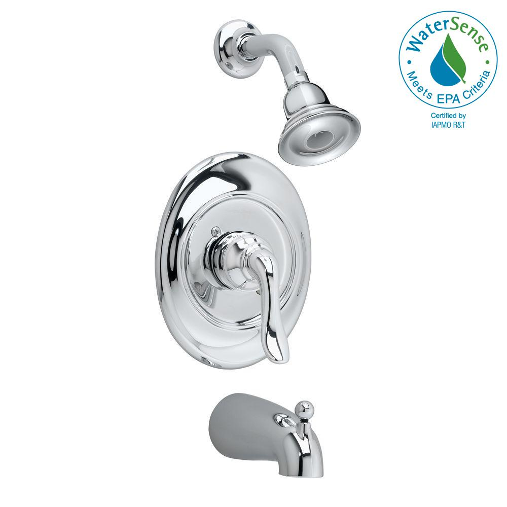Princeton 1-Handle Tub and Shower Faucet Trim Kit in Polished Chrome