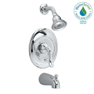 Princeton 1-Handle Tub and Shower Faucet Trim Kit in Polished Chrome (Valve Sold Separately)