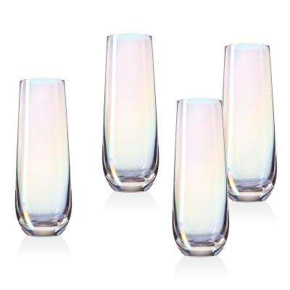 Monterey 10 oz. Crystal Stemless Flutes (Set of 4)