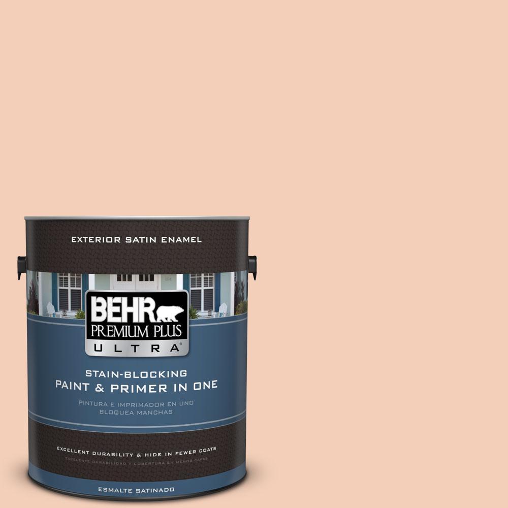 BEHR Premium Plus Ultra 1-gal. #M210-3 Apricot Freeze Satin Enamel Exterior Paint