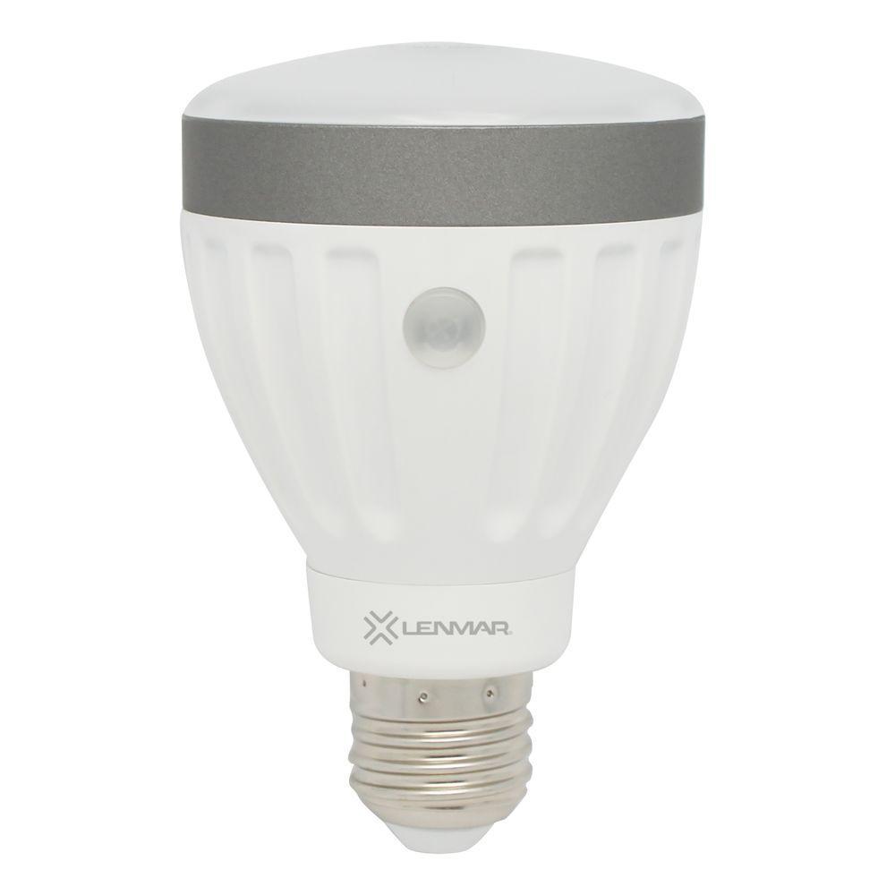 Automatic onoff sensor led bulbs light bulbs the home depot 50w equivalent soft white a19 non dimmable led light bulb aloadofball Gallery