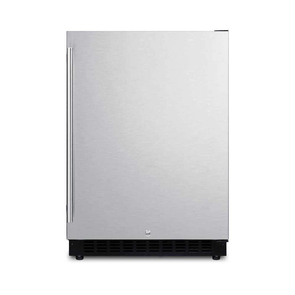 24 in. W 4.8 cu. ft. Freezer less Refrigerator in Stainless