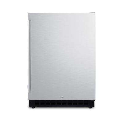 24 in. W 4.8 cu. ft. Freezer less Refrigerator in Stainless Steel Counter Depth