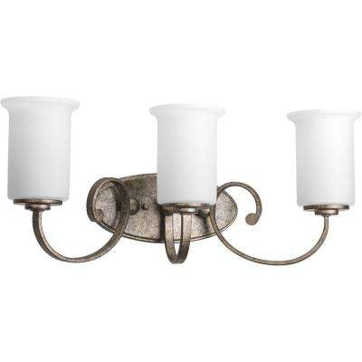 Stroll Collection 3-Light Pebbles Vanity Light with Opal Glass Shades