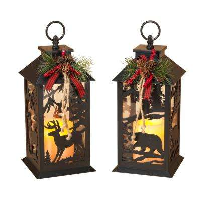 12 in. Battery Operated Lanterns (Set of 2)