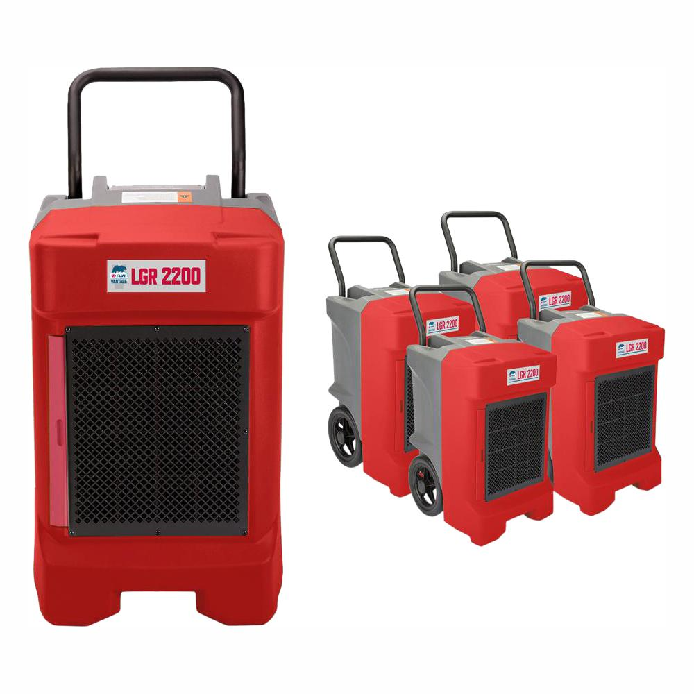 B-Air 225-Pint Commercial Dehumidifier for Water Damage Restoration Mold  Remediation in Red (24-Pack)